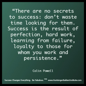 Colin Powell on success