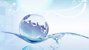 Globe floating on water wallpaper 1280x800 Globe floating on water ...