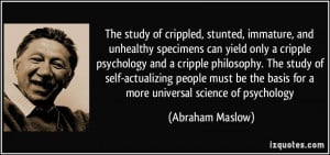 The study of crippled, stunted, immature, and unhealthy specimens can ...