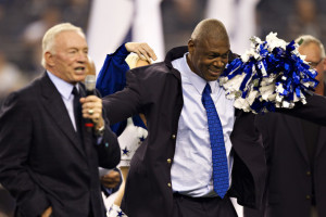 Charles Haley Charles Haley of the Dallas Cowboys smiles after being