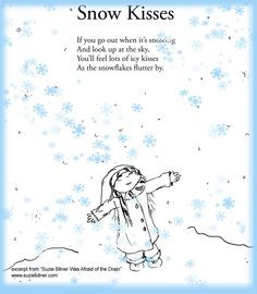 Snow Kisses! Poem Children's poem for winter. Great for school! More
