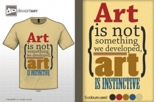 Art is Instinctive' - Quote Design by tjhiphop