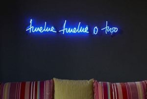 Neon sign - quote