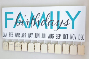 Family Birthday Board Vinyl Wall Quotes™ DIY Project