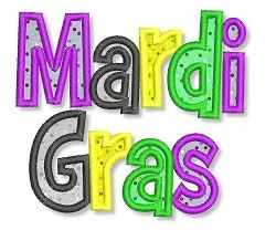 Mardi Gras Words 2 Styles | Words and Phrases | Machine Embroidery ...