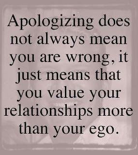 Apologies and relationships
