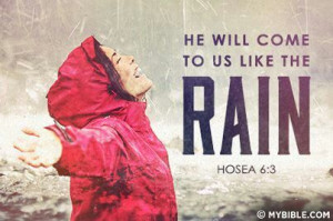 God rain your love and blessings on me