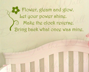 Tangled Rapunzel Flower Gleam Wall Decal Quote