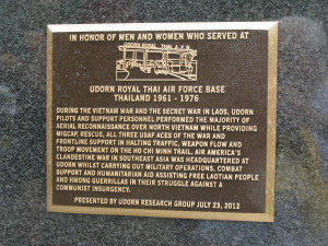 It was placed and dedicated a couple of weeks ago. The air base at ...