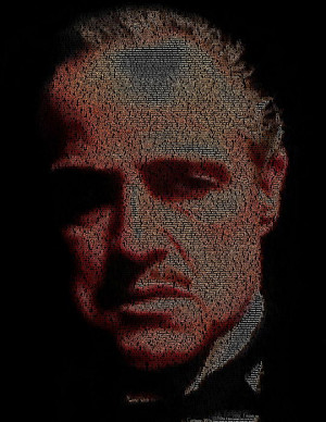 Vito Corleone The Godfather Quotes Mosaic Print by Paul Van Scott