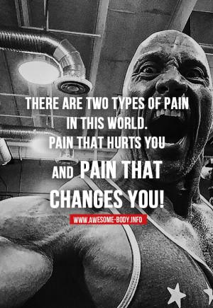 Bodybuilding motivational quotes | Pain