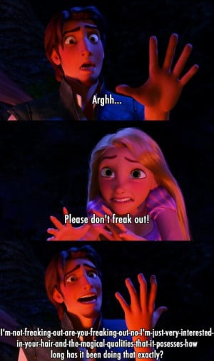 ... for this image include: funny, tangled, disney, rapunzel and quotes