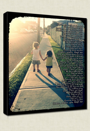 ... , Siblings, Family Custom Photo with Lyrics, Quotes on Canvas 12x16