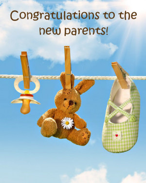 Ecard for new mum and dad with congratulations