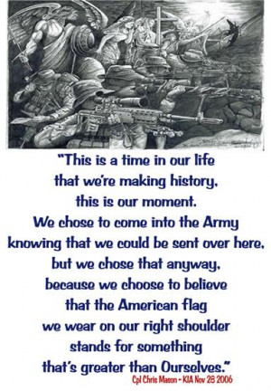 Quote From Fallen Soldier...