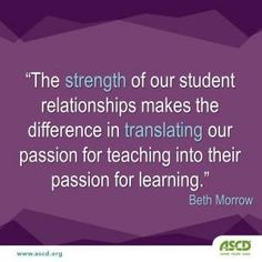 ... passion for #teaching into their passion for learning.