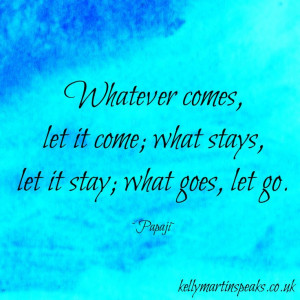 ... , let it stay; what goes, let go. ~Papaji. #quote #wisdom #advaita