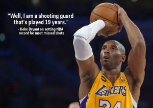 Kobe Bryant has the humble honour of saying he has missed more shots ...