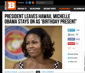 Michelle Obama Continues Hawaiian Vacation, Breitbart Commenters ...