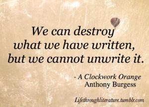 Tags: a clockwork orange literature quotes Anthony Burgess