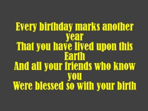 Birthday Poems for a Friend