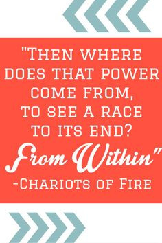 ... race to the end? From within
