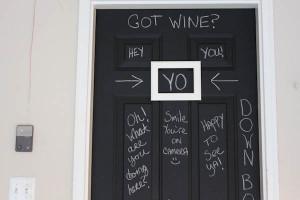 Chalkboard Doors