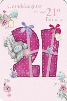 Granddaughter 21st Me to You Birthday Card