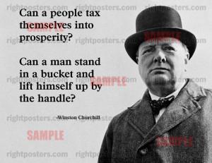 Winston Churchill Tax Quote Poster