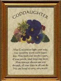 Godmother to Goddaughter Poems   Goddaughter Plaque Personalized Poem ...