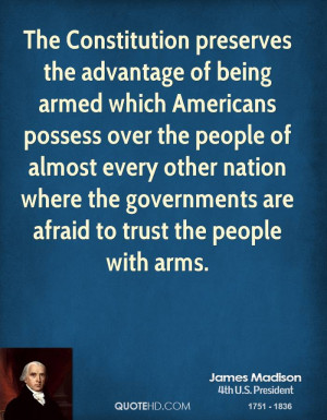 The Constitution preserves the advantage of being armed which ...