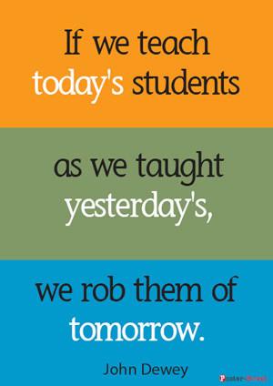 Teacher Posters-Teacher Posters - Inspirational Poster - If we teach ...