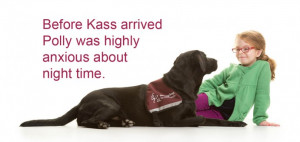 Polly and hearing dog Kass