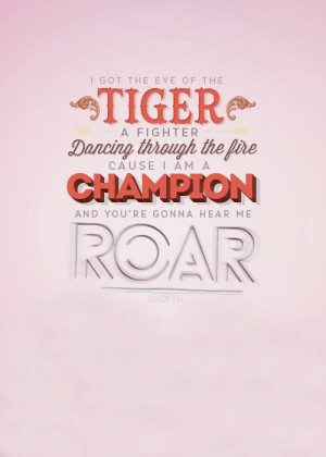 got the eye of the tiger a fighter dancing through the fire
