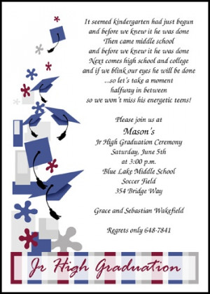 Caps Galore Jr High School Graduation Announcements Invitations Cards