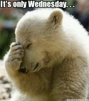 It's only Wednesday!