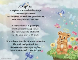Love You Nephew Images | Poems on nieces and nephews