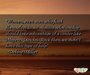 Women , even men who find themselves in an abusive relationship should ...