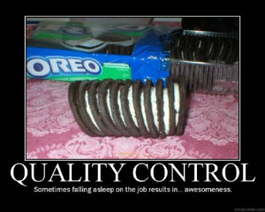 humor funny pictures quality control oreos awesome