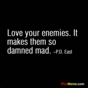 Love your enemies. Or as I prefer to say, Kill 'em with Kindness. Life ...