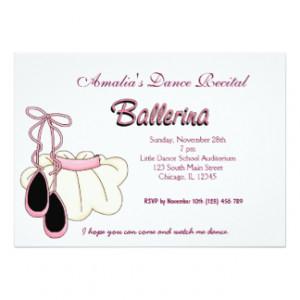 Dance Recital 5x7 Paper Invitation Card