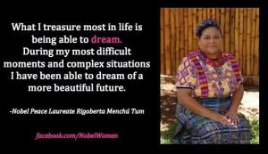 Nobel Peace Laureate Rigoberta Menchu Tum