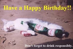 Happy Birthday Drink Quotes