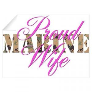 Proud Marine Wife MARPAT Wall Decal