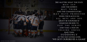 Hockey team quote