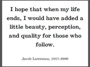 Jacob Lawrence on His Legacy