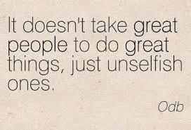 unselfish quotes