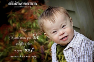 to show the world the amazing lives of many who have Down syndrome ...