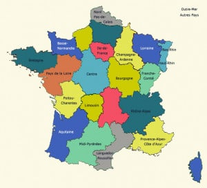 france map with regions