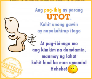 Tagalog Funny Love Quotes and Pinoy Funny Love Sayings